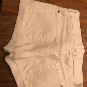 White size 27 seven for all mankind shorts